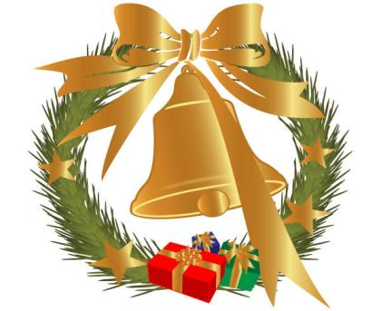 Christmas Bell Decoration Vector Graphics