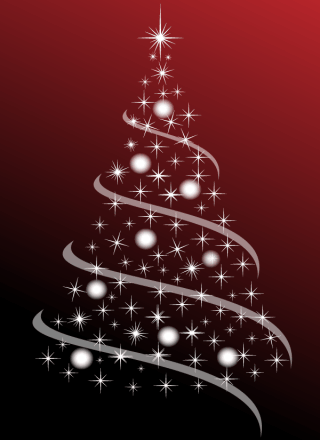 Free Christmas Tree Abstract Vector Image