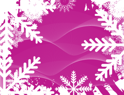 Free Abstract Winter Background Vector Graphics