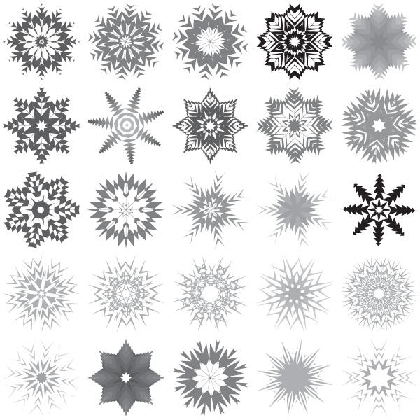 30 snowflakes free vector art 123freevectors rh 123freevectors com white snowflake vector art snowflake vector art free