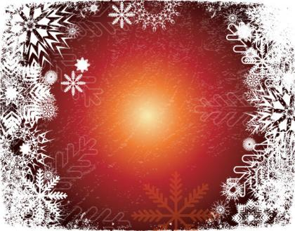 Christmas Snowflake Grunge Vector Background Illustration