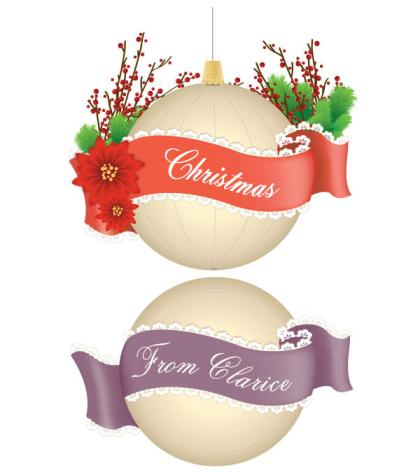 Christmas Decoration Baubles Vector Illustration
