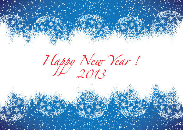 Happy new year 2013 blue greeting card free vector 123freevectors happy new year 2013 blue greeting card free vector m4hsunfo