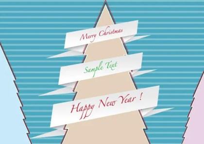 Free Origami Christmas Tree Vector
