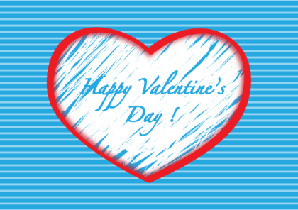 Happy Valentine Day Heart Background Vector Illustration