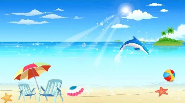Free Seaside Resort Vector Image