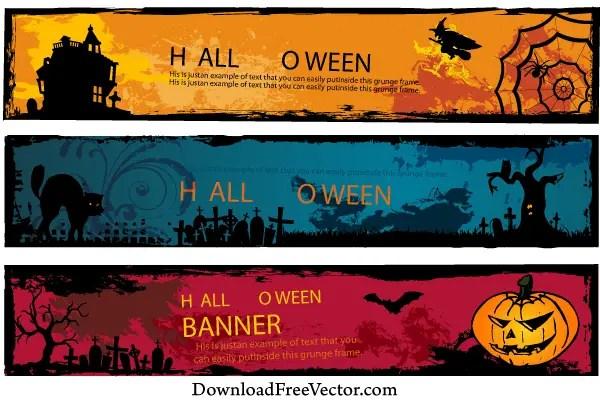 Free Halloween Banners Vector