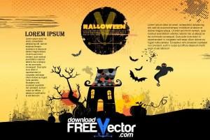 Free Vector Halloween Poster
