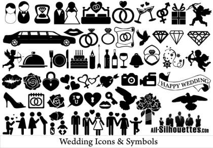 Free Vector Wedding Icons and Symbols