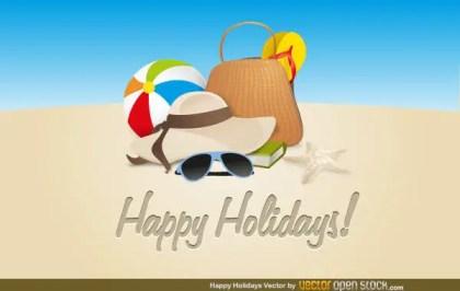 Happy Holidays Vector Art Free