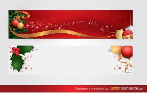 Merry Christmas Website Header Free Vector