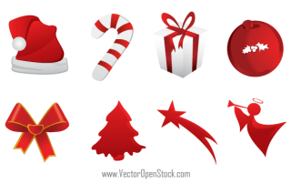 Free Christmas Icons Vector Graphics