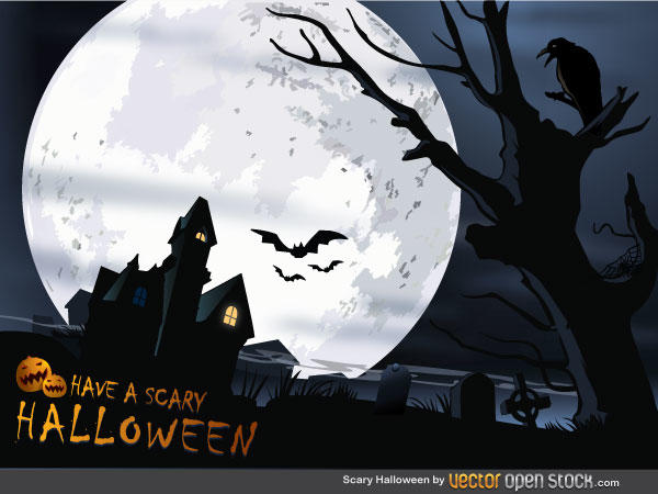 Free Scary Halloween Vector