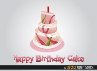 Free Happy Birthday Cake Vector