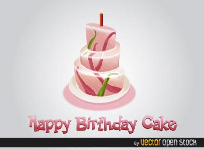 Free Happy Birthday Cake Vector