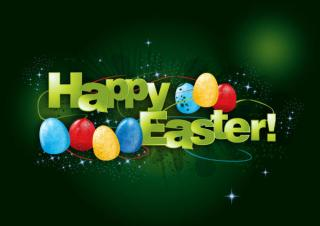 Happy Easter Background Vector Graphic