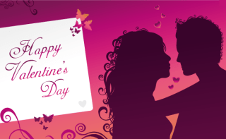 Happy Valentine's Day Greeting Card Vector Image
