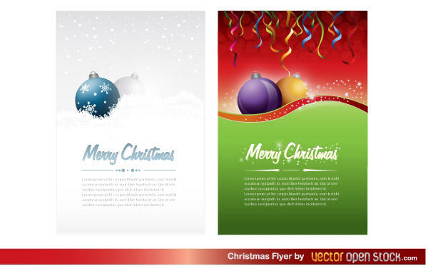 Free Christmas Party Flyer Template Vector 123freevectors