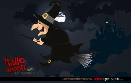 Free Halloween Witch Vector Illustration