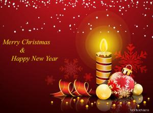 Merry Christmas & Happy New Year Background Free Vector
