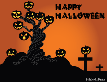 Free Halloween Spooky Tree Vector Image