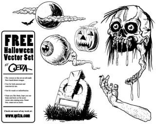 Free Halloween Vector Set
