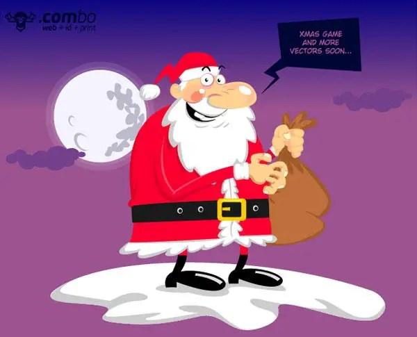 Cartoon Santa Claus Vector Free