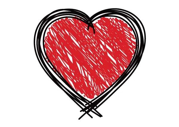 Free Scribble Heart Vector Graphics