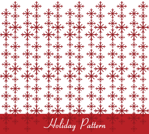 Seamless Christmas Pattern Vector Free