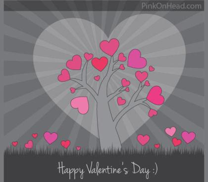 Happy Valentine's Day Vector Card Free Download