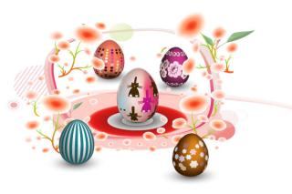 Free Colorful Easter Eggs Vector Illustration