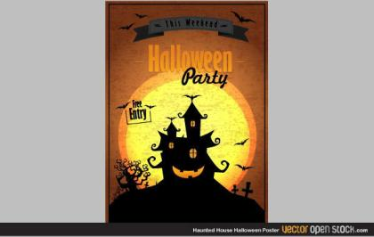 Haunted House Halloween Poster Image