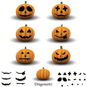 Jack O' Lantern Halloween Pumpkin Vector Art Free