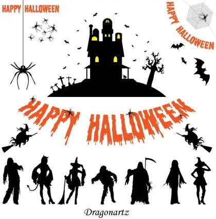 Free Halloween Silhouettes Vector Art
