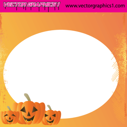 Halloween Vector Art Greeting Card
