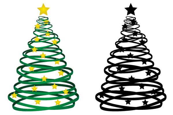 Free Ribbon Christmas Tree Vector