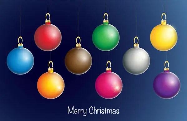Free Christmas Ball Ornament Vectors