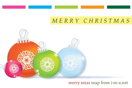 Colorful Christmas Balls Ornaments Free Vector