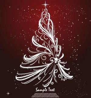 Free Christmas Tree Greeting Card Design