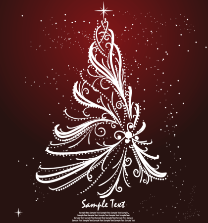 Free Christmas Tree Greeting Card Design