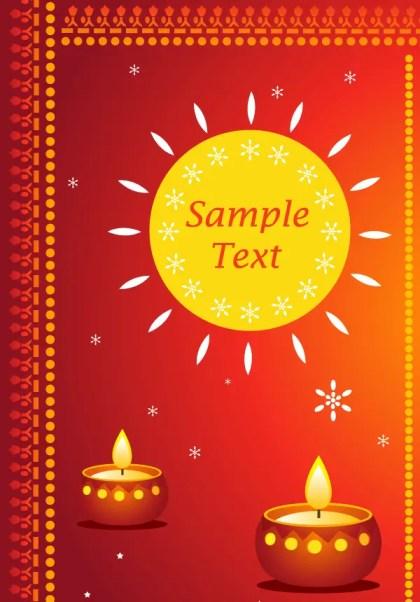 Happy Diwali Greeting Cards Vector Free