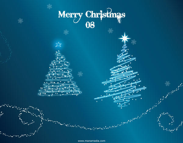 Sparkle Christmas Tree Vector with Snow Wallpaper
