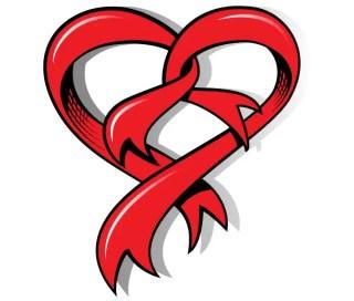 Heart Shaped Ribbon Free Vector Art