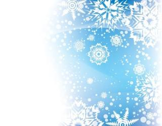 Vector Blue Winter Background with Snowflakes Space for Your Text