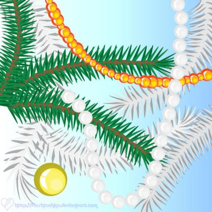 Free Christmas Tree Illustrator Brushes