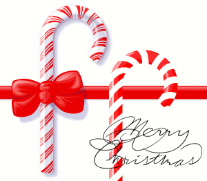 Christmas Candy Cane Free Vector