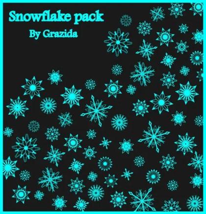 Christmas Snowflakes Free Vector Art