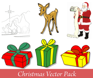 Merry Christmas Vector Pack Free