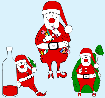 Free Santa Claus vector Art