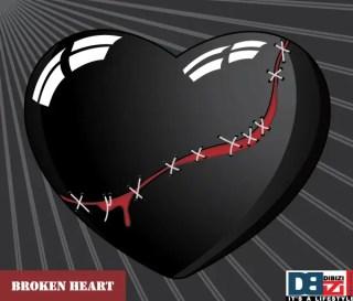 Stitched Broken Heart on Sunburst Background Free Vector